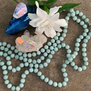 """Aquamarine Necklace 51"""""""